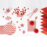Gobelets x8 à chevrons rouges Ruby Christmas My Little Day