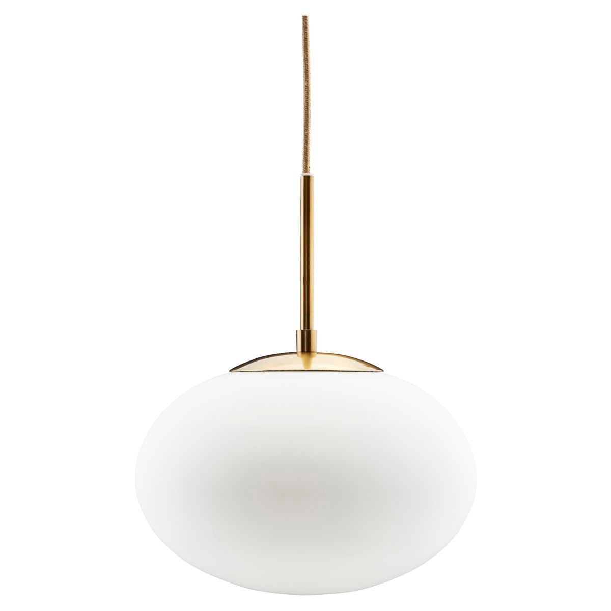 Suspension globe en verre opaque blanc Opal House Doctor