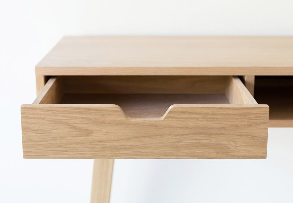 Bureau en chêne massif naturel fsc niches jocker decoclico