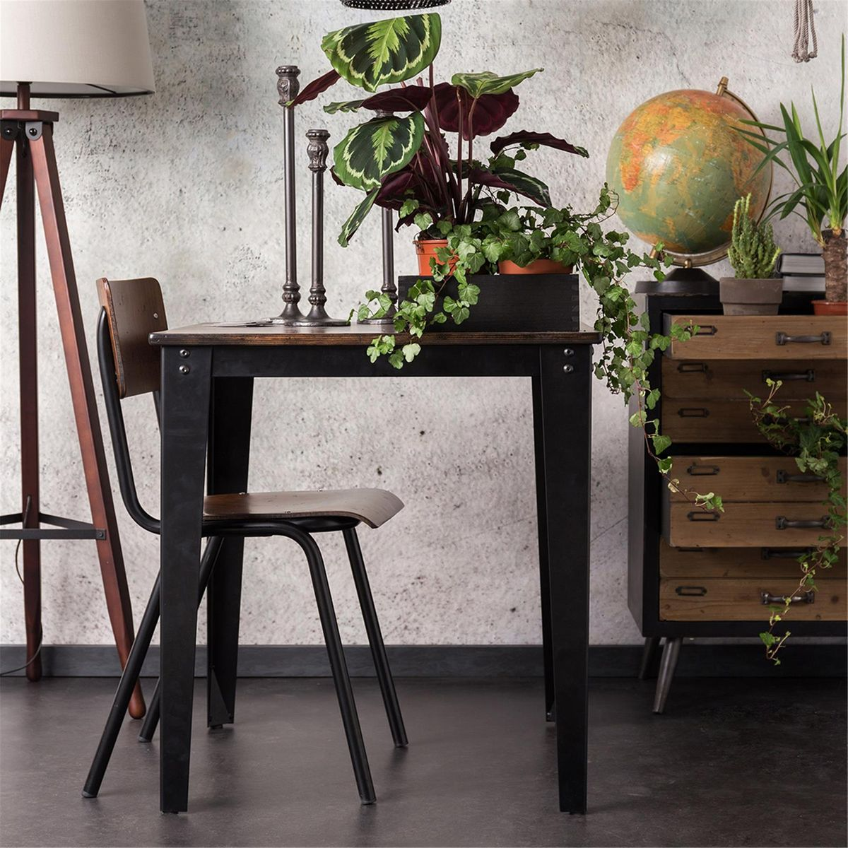 table esprit factory en contreplaqu bouleau scuola. Black Bedroom Furniture Sets. Home Design Ideas