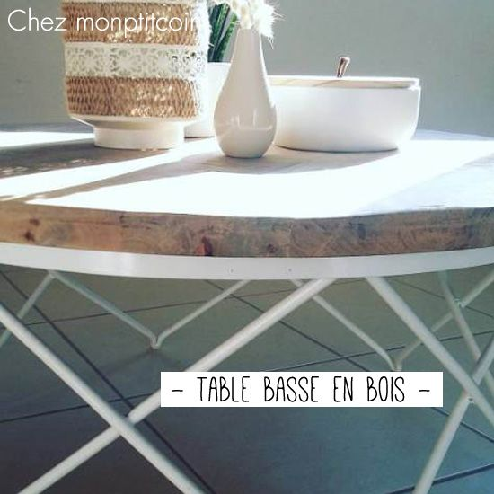 Table basse ronde en bois