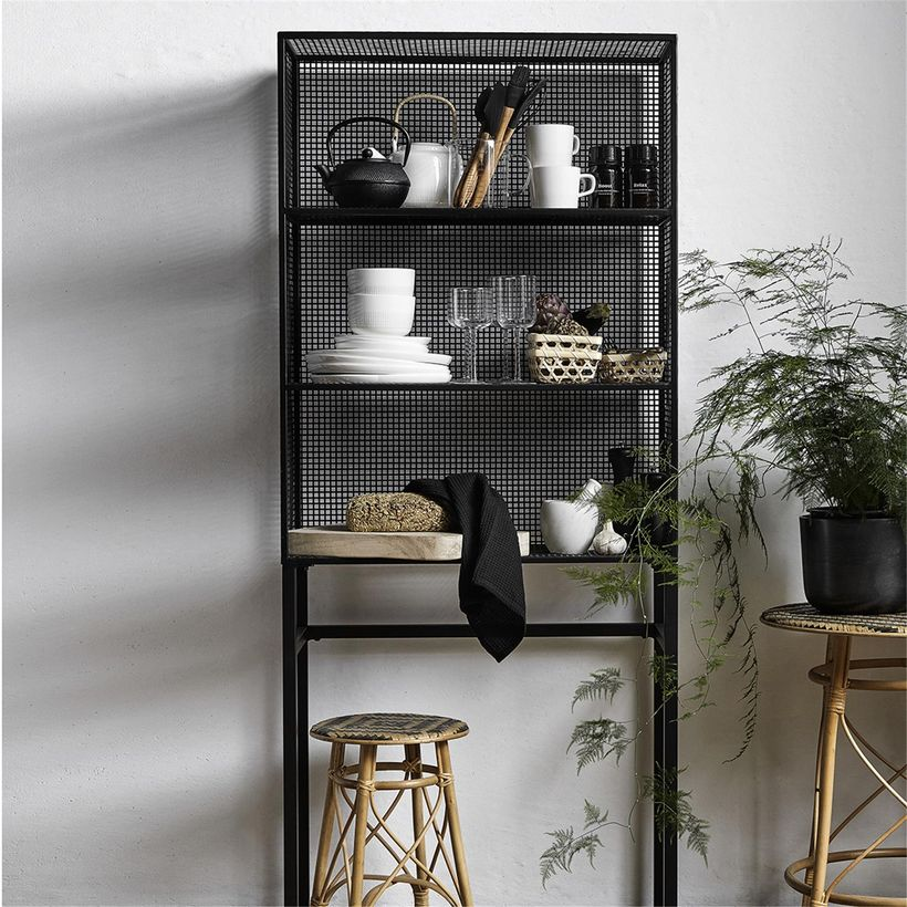 etag re poser bibliboth que en m tal grillag wire nordal decoclico. Black Bedroom Furniture Sets. Home Design Ideas
