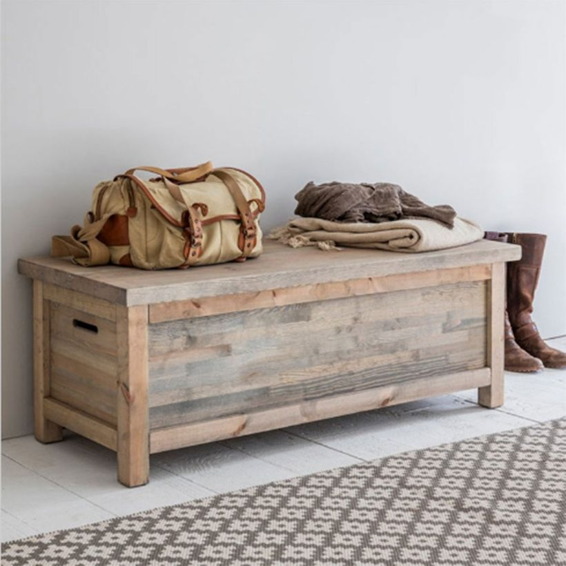 banc coffre de rangement en pic a naturel aldsworth decoclico