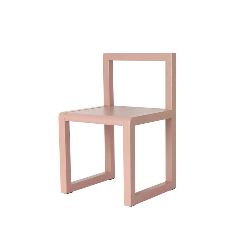 Chaise enfant en frêne rose Little Architect Ferm Living