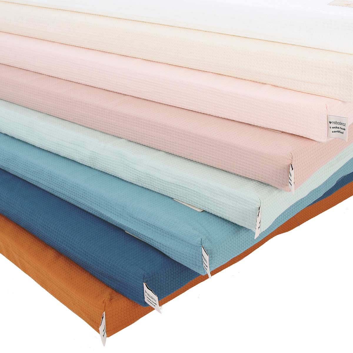 Matelas de sol en coton nid d´abeille St Barth Magic Green Nobodinoz