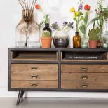 Buffet en pin et MDF 3 niches 3 tiroirs Sol Dutchbone - naturel