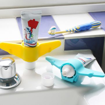 Support à tube de dentifrice en silicone avion J-me
