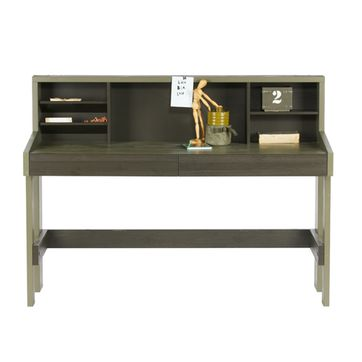 Bureau junior en pin massif kaki Derk Made by Woood