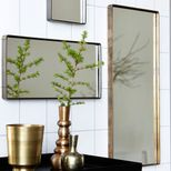 Miroir rectangulaire cadre finition laiton Reflection House Doctor