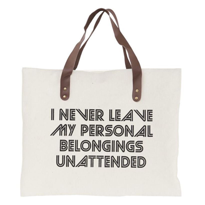 Sac cabas en canvas écru I Never Leave House Doctor