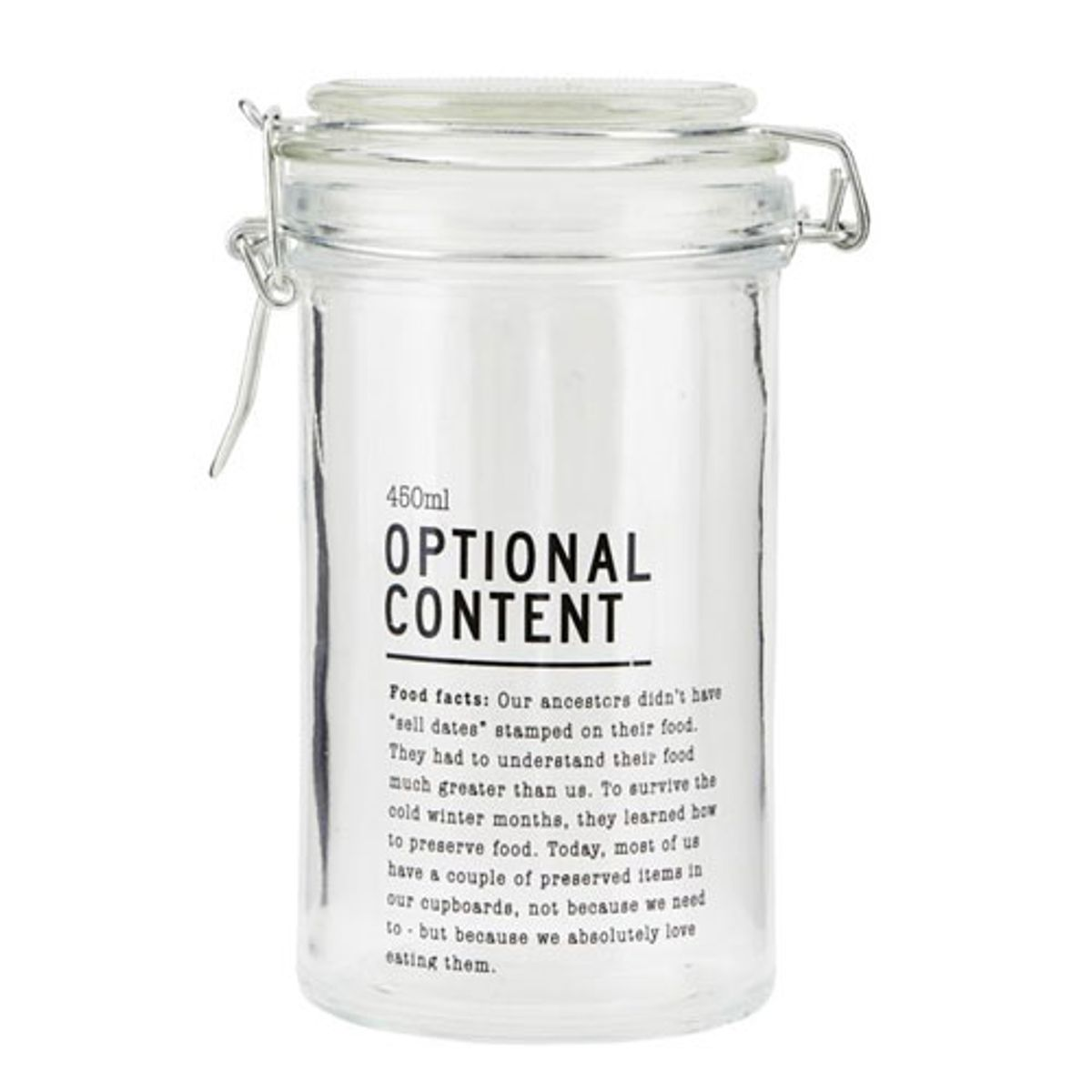Bocal de conservation verre Optional Content House Doctor - 450 ML
