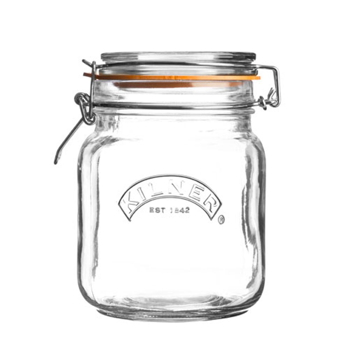 Pot de conservation verre carré Square Clip Kilner