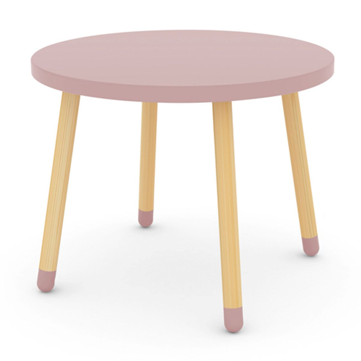 table ronde en bois pour enfant flexa play vieux rose decoclico. Black Bedroom Furniture Sets. Home Design Ideas