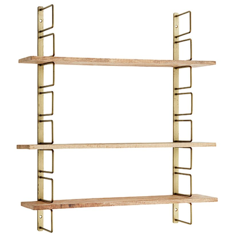 Etag re murale modulable m tal 3 tag res bois madam stoltz decoclico for Etagere murale aluminium