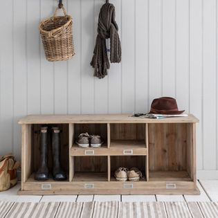 Meuble A Chaussures En Bois Naturel 6 Compartiments Chedworth Decoclico