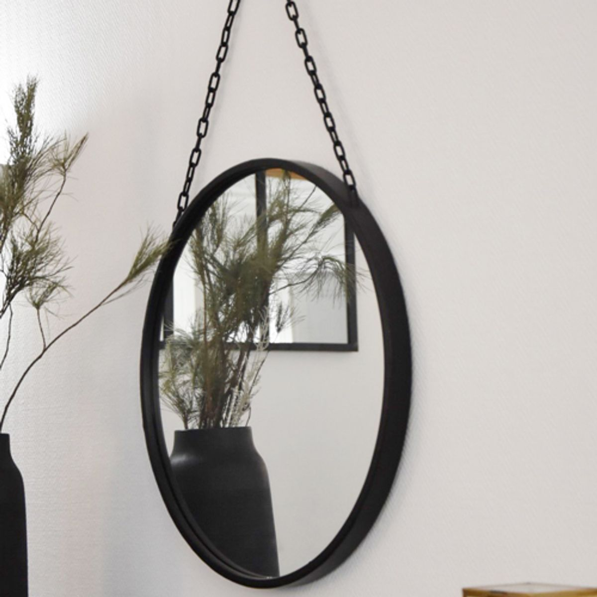 miroir en metal noir 3 miroirs en m tal noir devon maisons du monde miroir en m tal noir h. Black Bedroom Furniture Sets. Home Design Ideas