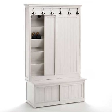 armoire chaussures manguier blanc 6 pat res et 4 portes. Black Bedroom Furniture Sets. Home Design Ideas