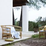 Banquette 2 places en rotin naturel Palma Tine K Home