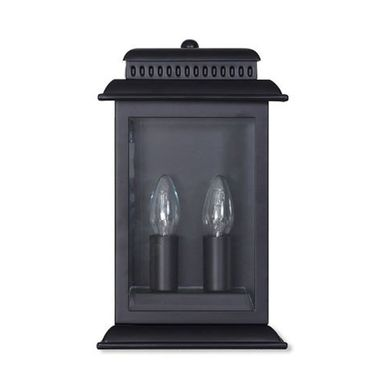 applique exterieure murale en m tal noir belvedere decoclico. Black Bedroom Furniture Sets. Home Design Ideas