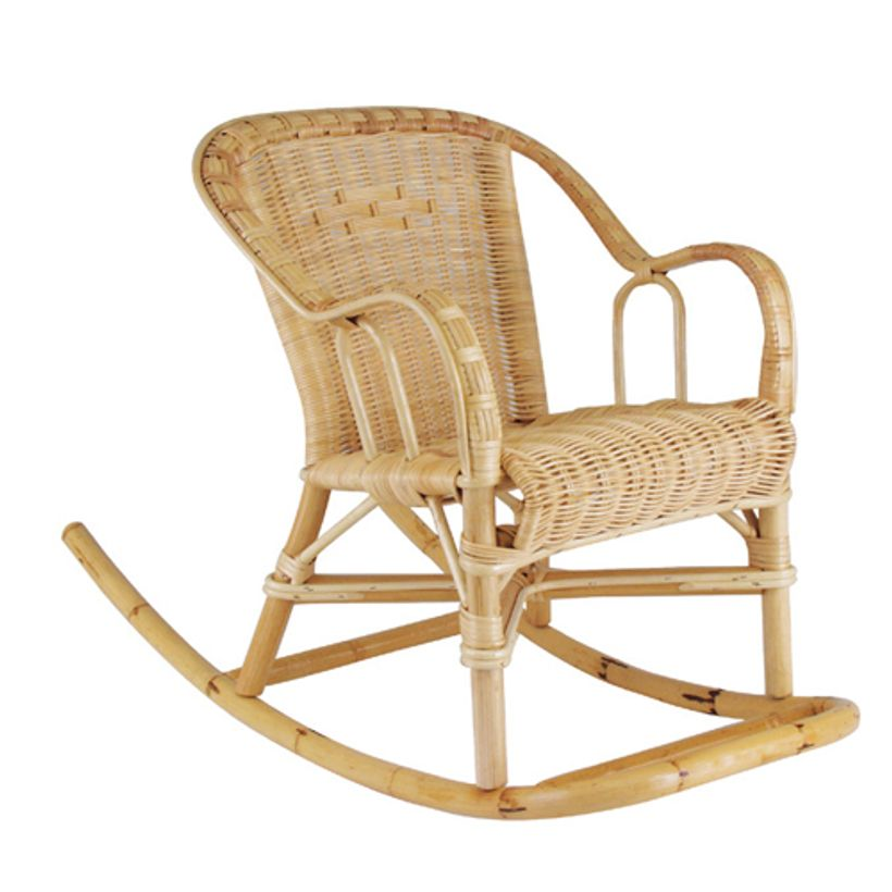 Rocking chair enfant 3 ans en rotin naturel