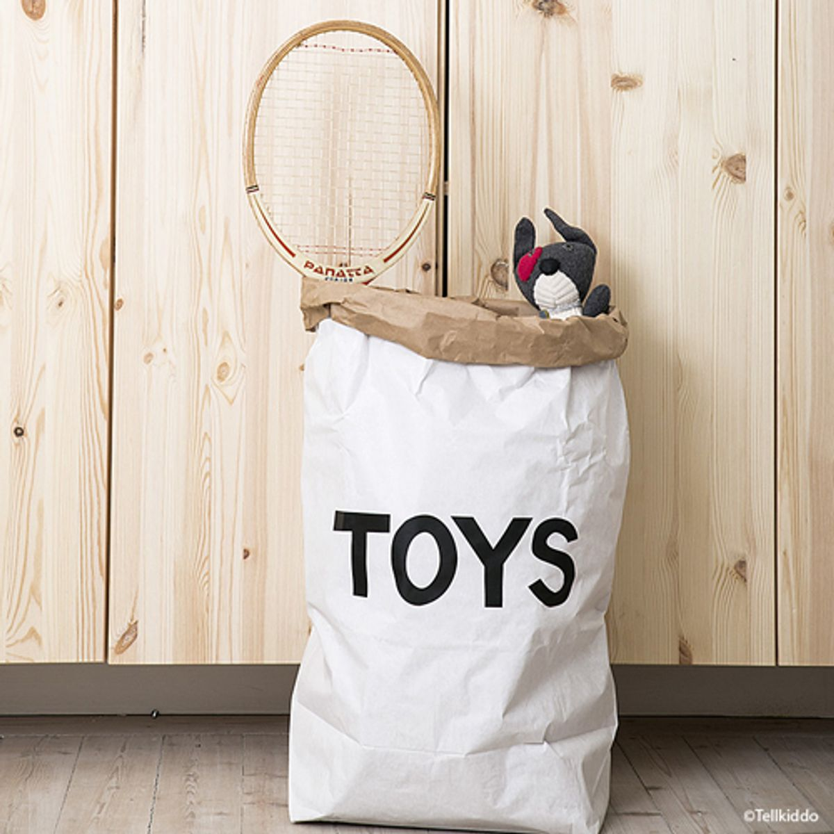 sac de rangement enfant en papier recycl toys tellkiddo decoclico. Black Bedroom Furniture Sets. Home Design Ideas