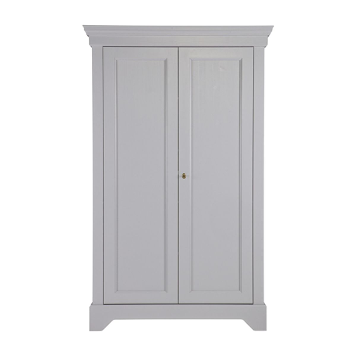 Armoire ling re en pin massif 4 tag res isabel gris for Armoire lingere