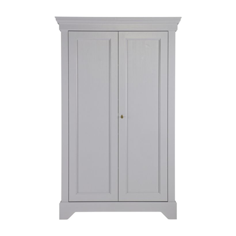 Armoire ling re en pin massif 4 tag res isabel gris for Armoire en pin massif