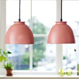 Suspension dôme métal Bloom Superliving - terracotta