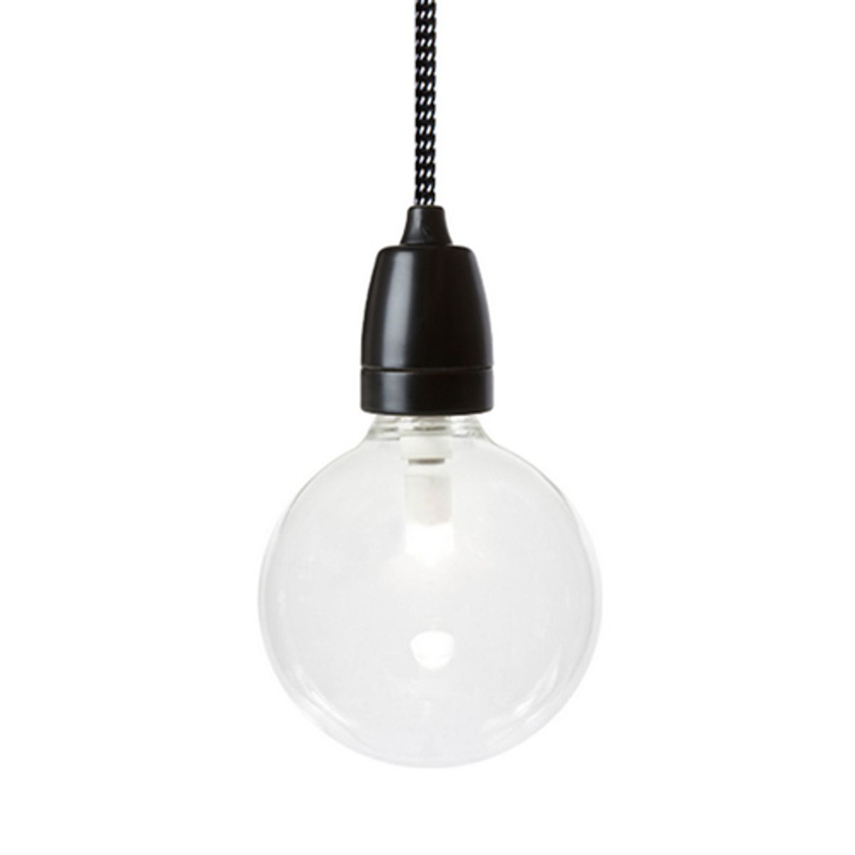 Suspension en porcelaine noire Nud Collection