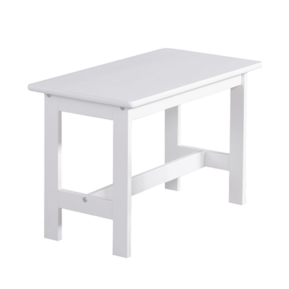 table enfant rectangulaire en bois blanc pinio decoclico. Black Bedroom Furniture Sets. Home Design Ideas