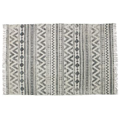 tapis en coton rectangulaire motif ethnique 160x240 scratch decoclico. Black Bedroom Furniture Sets. Home Design Ideas