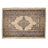 Tapis rectangulaire en sisal impression noir Motive
